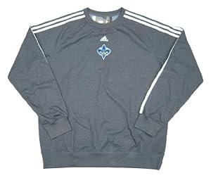 New Orleans Hornets Team Issued adidas Crew Sweatshirt Size 2XL - Slate Gray