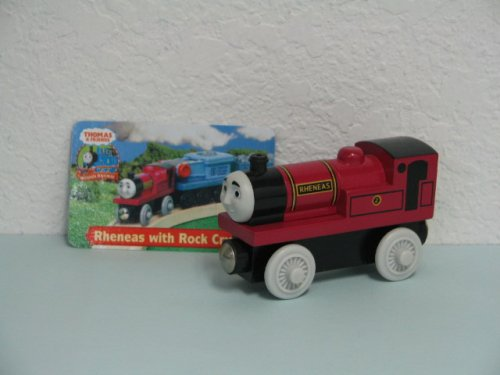 New Rheneas Thomas and Friends Wooden Train Engine. Loose item includes Exclusive Character Card.