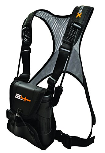 S4Gear LockDownX Binocular Harness (Black) for use with binoculars by Leupold,Nikon,Swarovski,Bushnell,Canon etc (Binocular Harness With Cover compare prices)