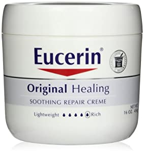 Eucerin Original Healing Soothing Repair Creme, 16-Ounce Jars (Pack of 2)