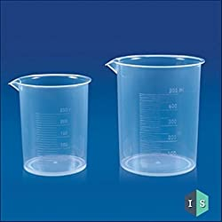 IndoSurgicals Beaker, Polypropylene (PP) - Pack of 12 Pcs. (100ml)