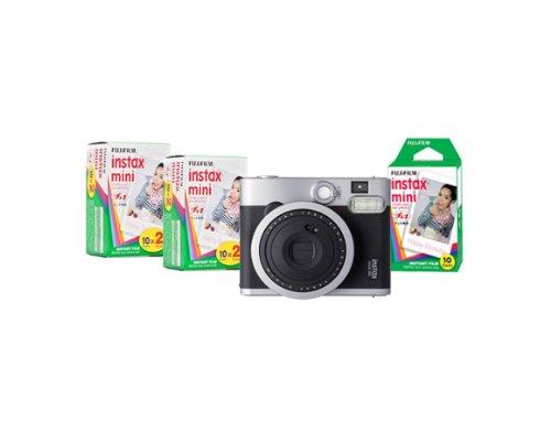 Fujifilm Instax Mini 90 Neo Classic Instant Film Camera w/ Fujifilm Instax mini 50 Images