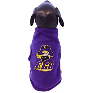 NCAA East Carolina Pirates Sleeveless Polar Fleece Dog Sweatshirt, Small by All Star Dogs