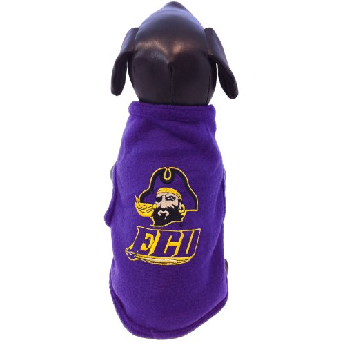 Review for NCAA East Carolina Pirates Sleeveless Polar Fleece Dog Sweatshirt, X-Small