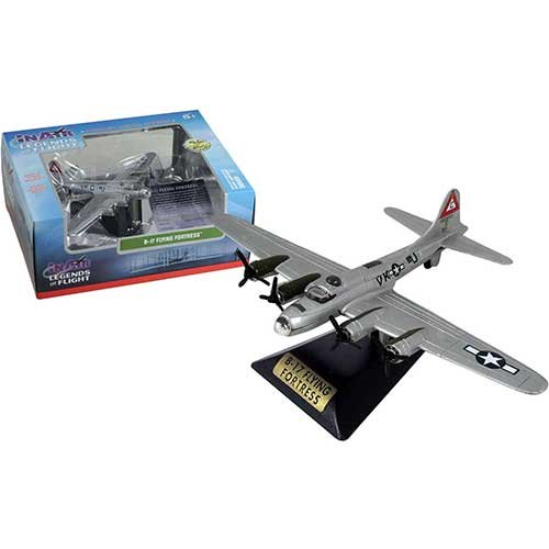 In Air Legends of Flight B-17 Flying Fortress, Silver Die Cast Vehicle