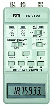 Reed FC-2500 Triple Range Frequency Counter, 2.5GHz Maximum Frequency, 0.1 Hz Resolution