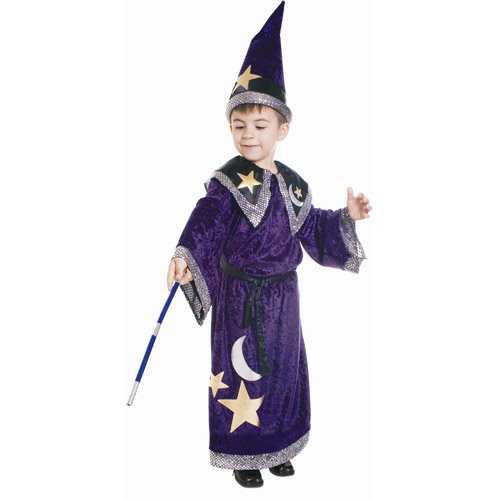 Magic Wizard Costume - Small 4-6
