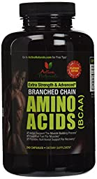 Activa Naturals BCAA Supplement- 240 Capsules of Branched Chain Amino Acids