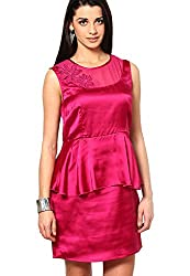 OVIYA Fushia Poly Satin Dress