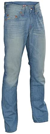 True Religion Brand Jeans Men's Basket Weave Straight Fire Denim Pants-33