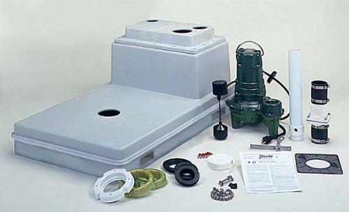Basement Toilets 102 Zoeller Qwik Jon Sewage Pump Package From Zoeller