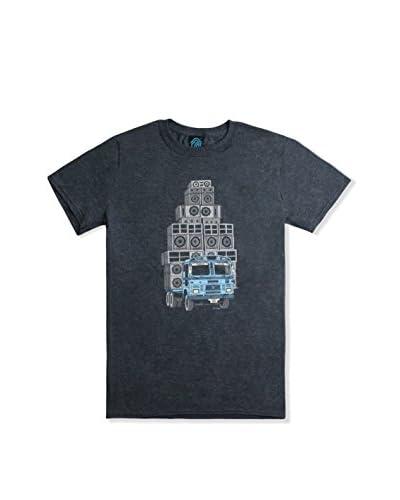 DEPHECT Camiseta Manga Corta Sound System Blanco