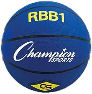 Buy Champion Sports Heavy Duty Pro Rubber Basketballs BLUE JUNIOR by Champion Sports