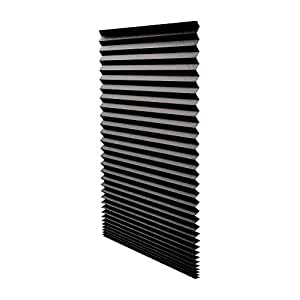 "Quick Fix Blackout Pleated Paper Shade Black, 48"" x 72"", 6 Pack"