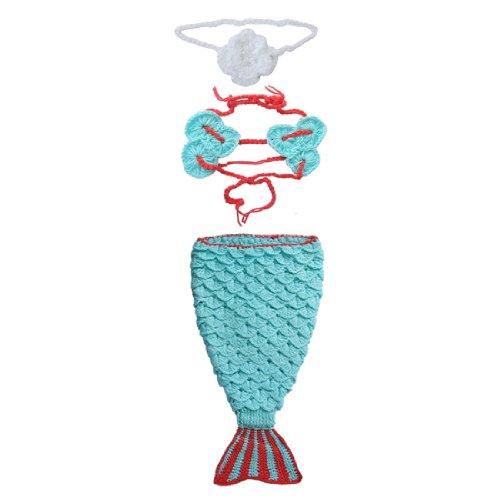 Efe Baby Wool Yarn Crochet Knit Mermaid Color Light Blue Size 0-12 Months
