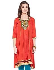 Anahi Women's A-line Kurta (261743654_RED_S)