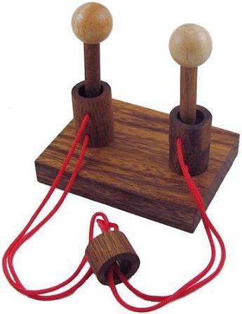 Gordian Duet String Wooden Puzzle Brain Teaser - 1