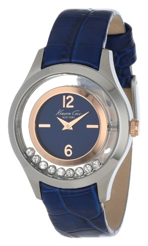 Kenneth Cole New York Women's KC2784 Transparency Blue and Rose Gold Floating Stone Dial Watch