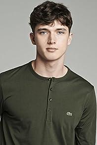 Long Sleeve Henley Pima Jersey T-shirt