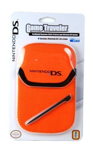 Dsi/DSLite Game Traveler Pouch Nintendo DS Logo - Orange