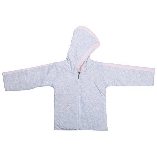 kandyfloss Kandy Floss Pink & Grey Quilt Hood Jacket for Kid