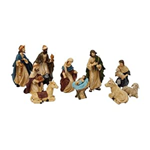"Heartland (poly-resin) N0145 5"" Poly-resin Nativity Set 11 Piece"