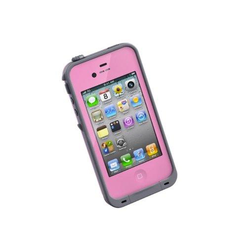 LifeProof FRE iPhone 4/4s Waterproof Case - Retail Packaging - PINK/GREY