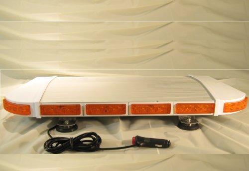 """Ultra Slim 27"""" Led Fire Tow Ems Light Bar Lightbar Amber Magnetic Mount"""