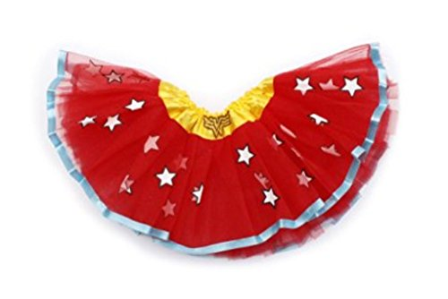 [Rush Dance Superhero Ballerina Girls DressUp Princess Fairy Costume Recital Tutu (Kids (3-8 Years), Wonder] (Womens Tank Dress Wonder Woman Costumes)