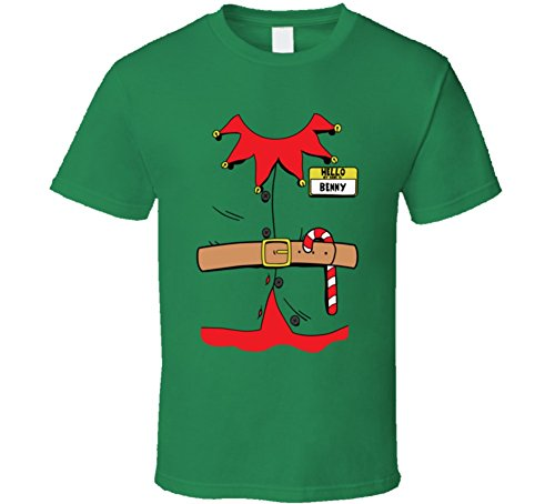 [Benny Personalized Name Christmas Elf Costume Funny Holiday Gift T Shirt S Irish Green] (Benny And Smalls Costume)