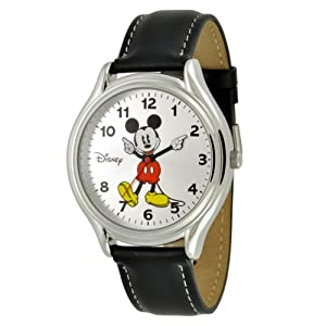 Disney Men's MCK619 Mickey Mouse Black Strap Easy Read Watch