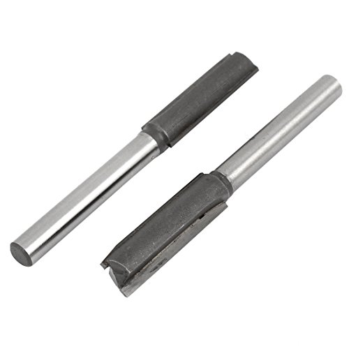 "1/four"" x three/eight"" Twin Flutes Steel Directly Router Bit Cutter 2 Pcs"