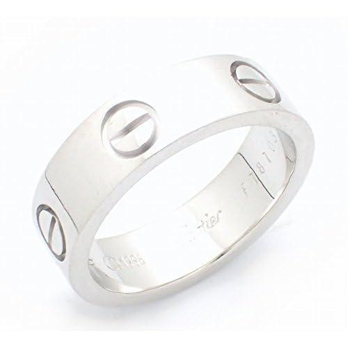 [カルティエ] Cartier ラブリング K18WG 750WG ホワイトゴールド リング 指輪 #52 B4084700 B4084752