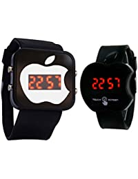 VASA Apple Style LED Digital Watches Combo For Men And Women