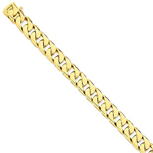 "7.0 Mm Solid 14K Yellow Gold High Polish Classic Miami Cuban Curb Link Chain Necklace - 30"" Inches"