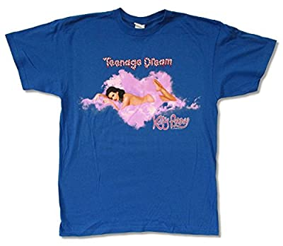 "Adult Katy Perry ""Heart Shaped Cloud Tour 2011"" Royal Blue T-Shirt"