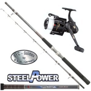 Meerescombo DAM Light Boat Power Tip 1,80m 20lbs + Rolle mit Schnur - Angelshop-Berger
