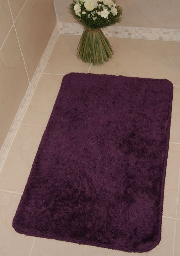 Bolero Aubergine Purple Bath and Pedestal Bathroom Mats 1030 - 3 Sizes