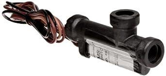 Gems Sensors FS-4 Series Ryton Flow Switch, Elbow, Piston Type, SPDT Switch, UNF-2B