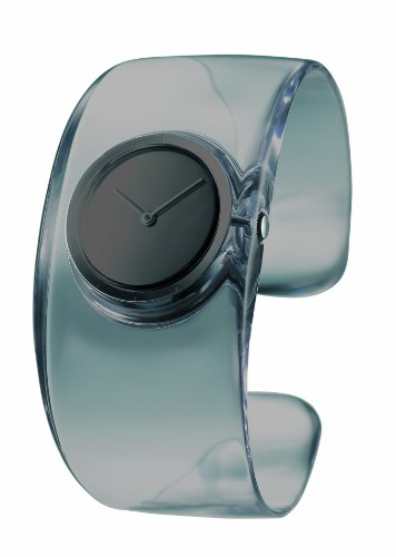Issey Miyake O Women's Quartz Watch with Grey Dial Analogue Display and Grey Resin Bangle SILAW002