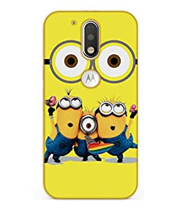Happoz Motorola Moto G Plus ( 4th Generation ) Cases Back Cover Mobile Pouches Shell Hard Plastic Graphic Armour Premium Printed Designer Cartoon Girl 3D Funky Fancy Slim Graffiti Imported Cute Colurful Stylish Boys D111