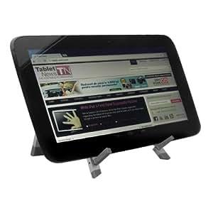 kwmobile Support élégant pour tablette Samsung Google Nexus 10 en Argenté en MÉTAL - 2 positions