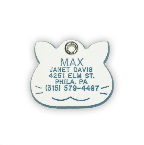 Cat Shaped Dog Cat Pet ID Tag Custom Engraved