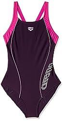 Arena Migreg Textile Swimsuit, Junior 14 Years (Plum/Fuchsia/White)