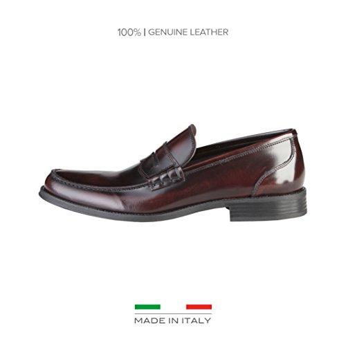 Made in ItaliaShoes - Scarpe basse Uomo , rosso (Burgunderrot), 40