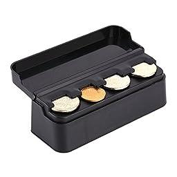 Yosoo Car Coins Case Loose change Storage Box Pocket Money Wallet Piggy Bank Holder Organizer Sundries Bag