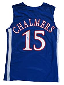 Mario Chalmers Autographed Kansas Jayhawks Basketball Signed Jersey JSA COA by Powers+Collectibles