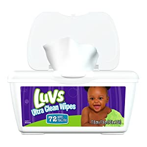 Luvs Ultra Clean Wipes Tub 72 Count (Pack of 8)