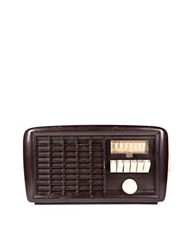 1940s Vintage Wards Airline Radio, Brown/Cream/Gold