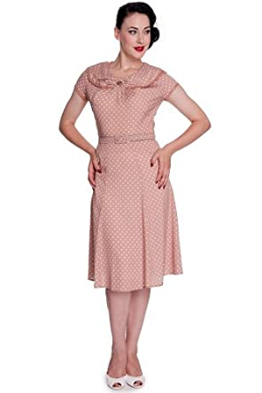 Hell Bunny Kleid INGRID DRESS 4326 Beige XL